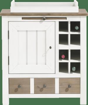 armoire 79 cm - 1-porte + 1-tiroir + 1-plateau + 8-niches