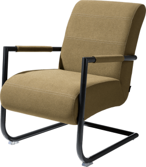 bijzetfauteuil rough off black frame