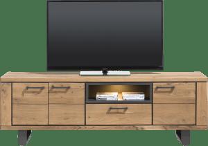 lowboard 180 cm - 3-portes + 1-tiroir + 1-niche (+ led)