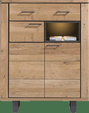 highboard 110 cm - 2-deuren + 1-lade + 1-niche (+ led)