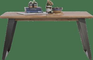 uitschuiftafel 190 (+ 60) x 100 cm - vierkante poot