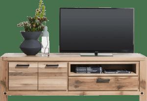 lowboard 200 cm - 2-portes + 1-tiroir + 1-niche (+ led-spot)