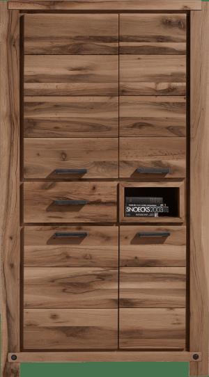 armoire 110 cm - 4-portes + 1-tiroir + 1-niche (+ led-spot)