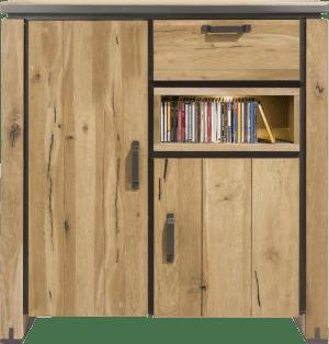 highboard 125 cm - 2-deuren + 1-lade + 1-niche (+ led)