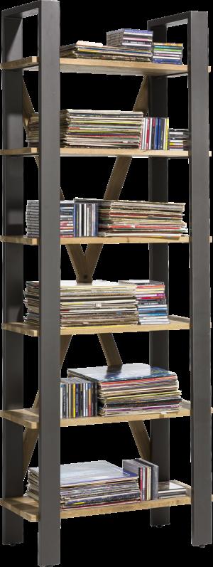 boekenkast 75 cm - 6-niches (knock down)