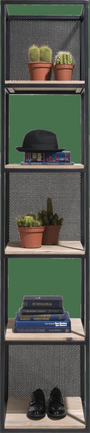 regal 5-nischen+5-einlegeboden+3 versetzb. metallen panelen-217 cm