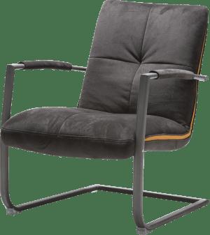 fauteuil met frame in rvs of zwart