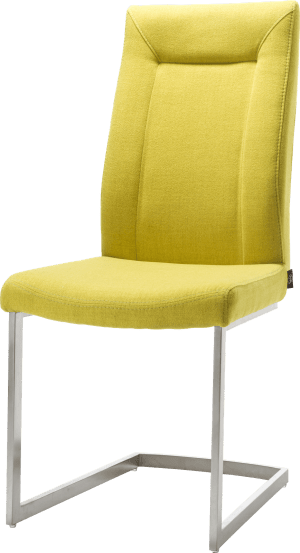 chaise - pied traineau inox carre avec poignee