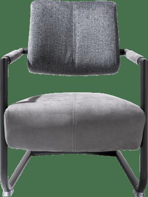fauteuil metalen frame zwart + combi kibo/fantasy