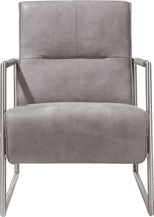 fauteuil avec accoudoir en inox