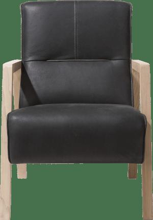 fauteuil avec accoudoir en bois vintage clay / white / black