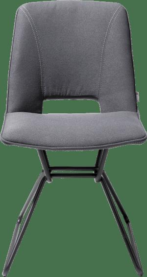 chaise - cadre noir - tissu lana