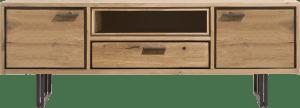 lowboard 170 cm - 2-deuren + 1-lade + 1-niche (+led)