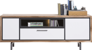 lowboard 170 cm - 2-portes + 1-tiroir + 2-niches (+ led)