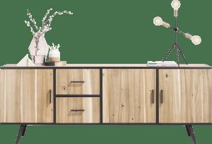 dressoir 220 cm - 3-deuren + 2-laden
