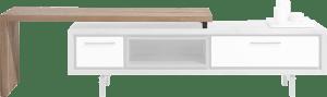 meuble tv avec plateau pivotante 140 cm - a monter