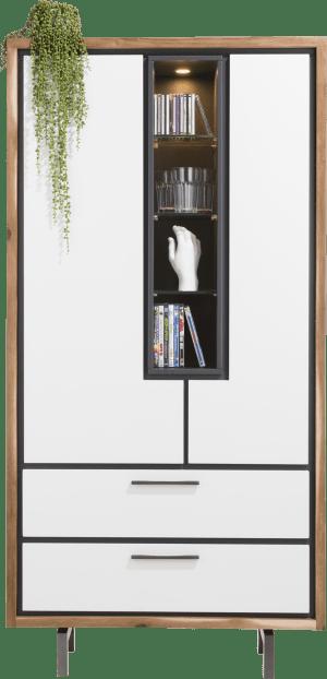 armoire 95 cm - 2-portes + 2-tiroirs + 4-niches (+ led)