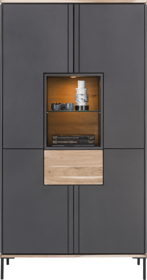 armoire 100 cm - 4-portes + 1-tiroir + 2-niches (+ led)