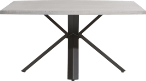table 150 x 130 cm - beton - pied forme etoile