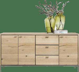 dressoir 180 cm - 3-deuren + 3-laden