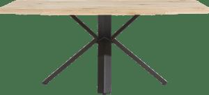 eetkamertafel 190 x 100 cm - hout - sterpoot