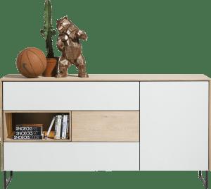 sideboard 1-tuer + 3-laden + 1-nische - 160 cm (+ led)