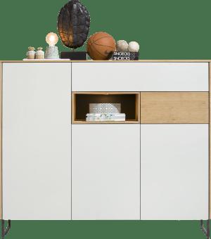dressette 3-portes + 2-tiroirs + 1-niche - 160 cm (+ led)