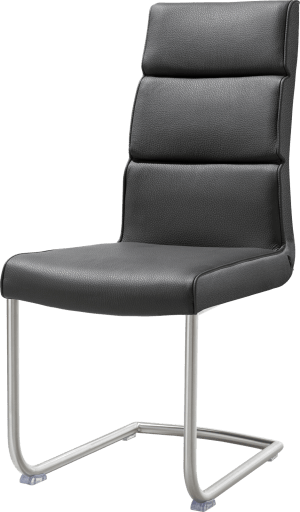 chaise pied traineau inox rond