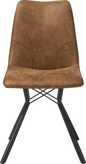 chaise - pied noir + cuir corsica