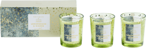 box with 3 scented candles lemongrass & ginger