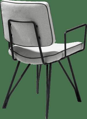 eetkamerstoel zwart frame + stof lana / lederlook tatra