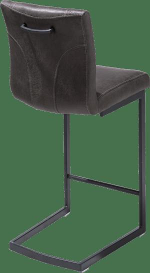 barstoel - zwart swing recht - greep recht - stof secillia