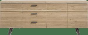 dressoir 220 cm - 3-deuren + 3-laden