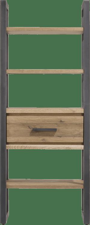 boekenkast 75 cm - 1-lade + 5-niches