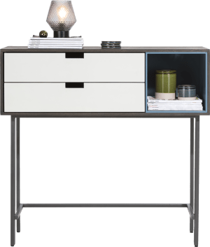sideboard high 113,5 cm - 2-drawers + 1-box