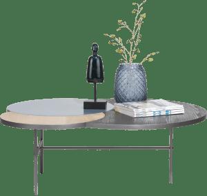 table basse 3-plateaux - 110 x 85 cm