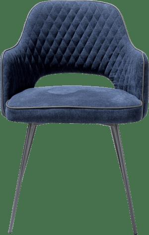 fauteuil + cadre graphite - tissu monta +passepoil tatra anthracite