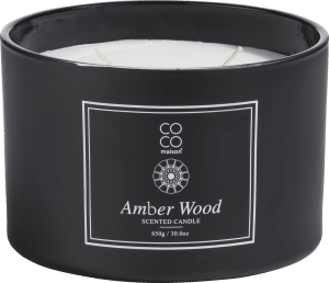 scented candle xl amber wood