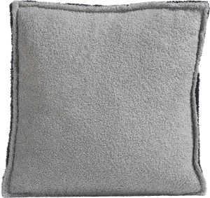 fluffy grey cushion 45x45cm