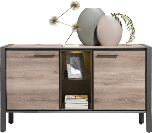 sideboard 150 cm - 2-tueren + 2-nischen (+ led)