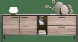 sideboard 240 cm - 2-tueren + 2-laden + 2-nischen (+ led)