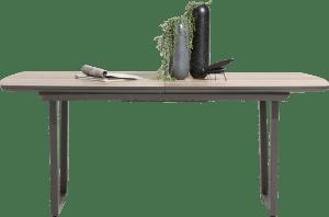 table a rallonge 190 (+ 50 cm.) x 110 cm - pied forme v