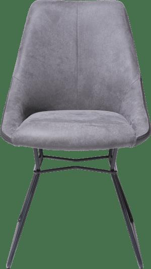 dining chair - powdercoated black - combination kibo fr/tatra