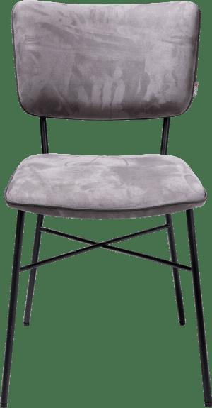 eetkamerstoel - multiplex rug antraciet - stof savannah