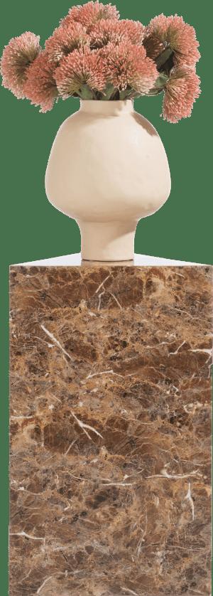 marble look pilaar h65cm