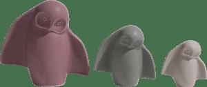 owlbert jeu de 3 figurines h15-11-8cm