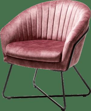 fauteuil met metalen frame recht