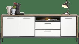 sideboard 240 cm - 3-tueren + 2-laden + 1-nische (+ led)
