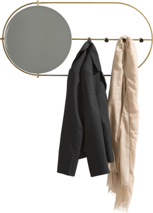 miroir avec portemanteau jolene