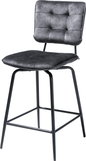 chaise de bar - off black - tissu karese